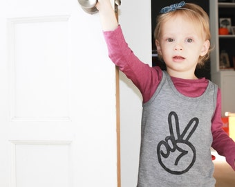 peace sign toddler tank top, peace shirt, hippie baby, trendy baby boy clothes, unisex baby clothing, hipster clothes, GREY