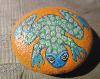 painted rock by roxanne sandstone