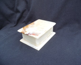 Alabaster Trinket Box made in Italy