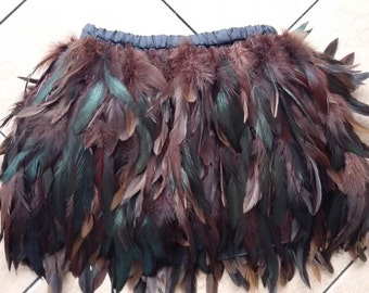 11.5 inches (29cm) Free shipping hip length rooster straight feather skirt for party, show, ball #SKT15020C