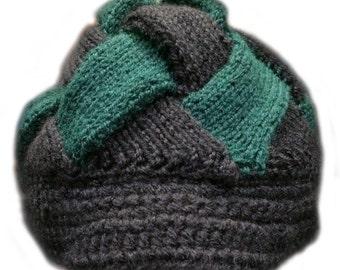 Hand Knit Entrelac Newsboy Cap