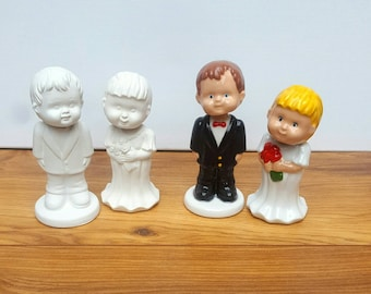 Custom Cake Toppers  Wedding Gift His and Hers Bobble Head Bride and Groom Gift Cake Top Personalised Wedding Gift