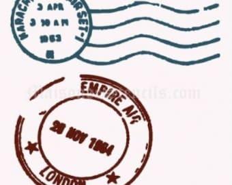 Postmark Stencil (8x8)