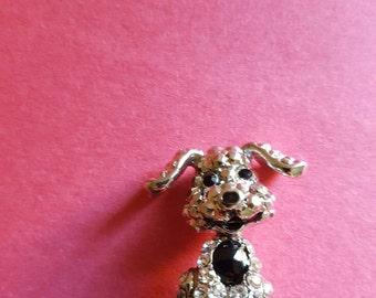 Very Cute Silver Head Puppy With Shiny Rhinestones Anti Dust Plug Phone Accessories Charm Headphone Jack Earphone Cap