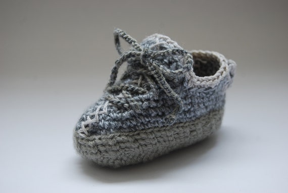 Crochet Yeezy : Yeezy 350 Boost Inspired Crochet Baby Booties Moonrock Colorway Yeezy ...