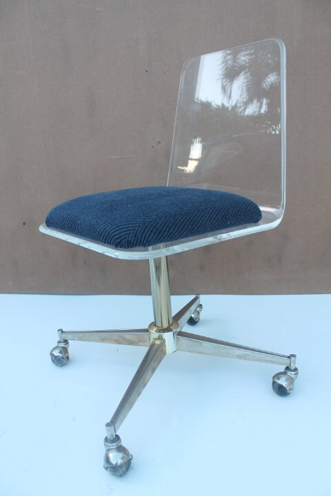 Very Cool Vintage Modern Clear Lucite Desk Chair