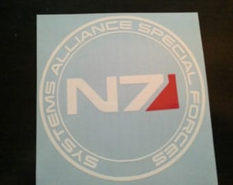 System Alliance Special Forces Mass Effect N7 Inspired Decal