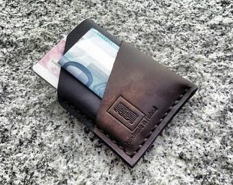 Minimalist leather cardholder wallet