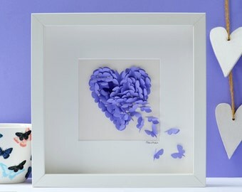 Butterfly Heart Picture Lilac Butterfly Heart With Purple Accent