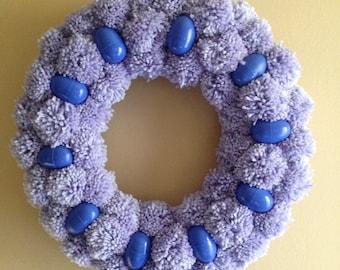 Easter Pom Pom Egg Wreath!