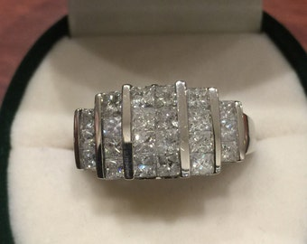 1.20ct Diamond Cluster Ring in White gold