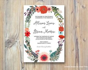 Bright Floral | Printable Wedding Invitation + RSVP