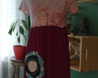 Item no. JUL16-008 - Recycled eco friendly happy summer dress - size XS