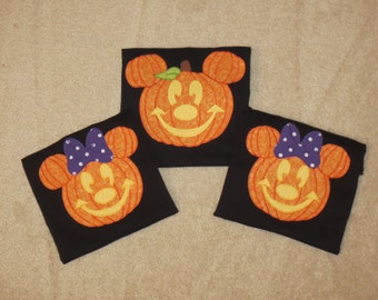MiCKeY Minnie HALLOWEEN PuMPKIN Custom Boutique T SHIRT Tee