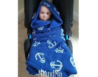 Navy Baby Blanket Etsy