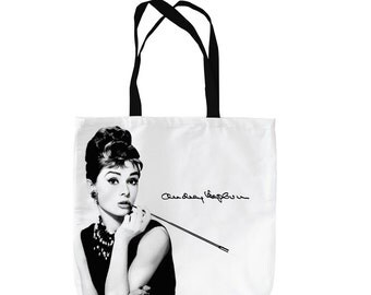 Audrey Hepburn Design Tote Bag Shopping Bag Beach Bag School Bag