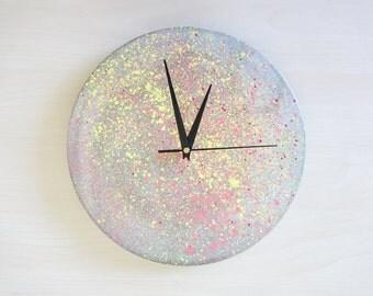 """Sabai """"crete-art"""" series designer concrete clock industrial minimalist"""