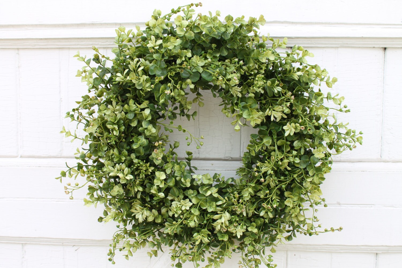 Boxwood Wreath Farmhouse Decor Front Door Wreath Green