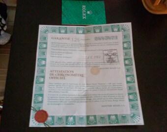 vintage rolex warranty