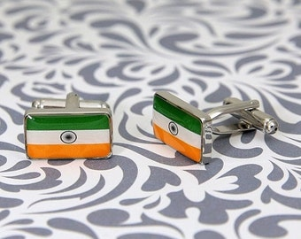 ON SALE Indian Flag India Cufflinks