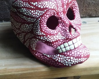 Pink and White glow-in-the-dark Skull