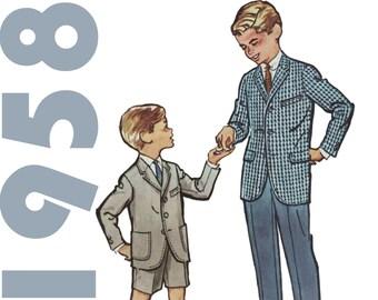 Boys Suit Pattern, McCalls 4814 sz 6, Boys Suit, Boys Suits, Sunday Suit, Boys Short Suit, Boys Sport Coat, Childs Suit, Boys Size 6