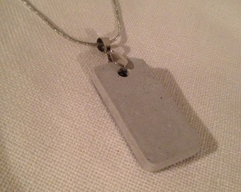 """Concrete pendant """"dogtag style""""   not just for women"""