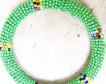 African Bangle Bracelet Bangle Bead Bracelet African Jewelry Fair Trade Jewelry Stacking Bracelet African Bracelet