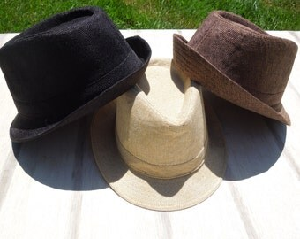 Fedora, Teen/Adult Fedora, Young Mans Straw Fedora, Brown Hat, Black Hat, Adult Jazz Hat, Panama Hat