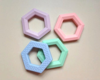 Silicone Hexagon Teether Toy