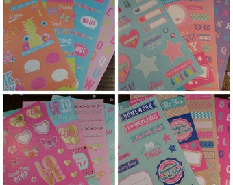 Planner stickers - set of 4 sheets