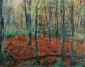 KUNST. Originalbild. Einzigartiges Motiv. Mischtechnik. Fotoübertragung, Akrylfarbe und Aquarell. Unikat per Hand angefertigt. THE FOREST.