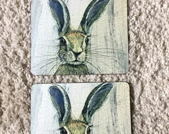 Hare place mats set of 2
