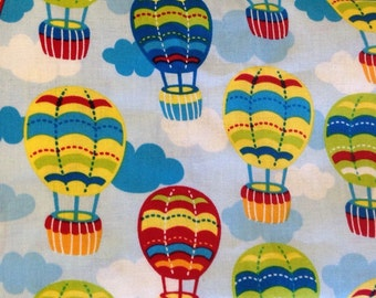 Fitted Crib Sheet - Clouds & Balloons
