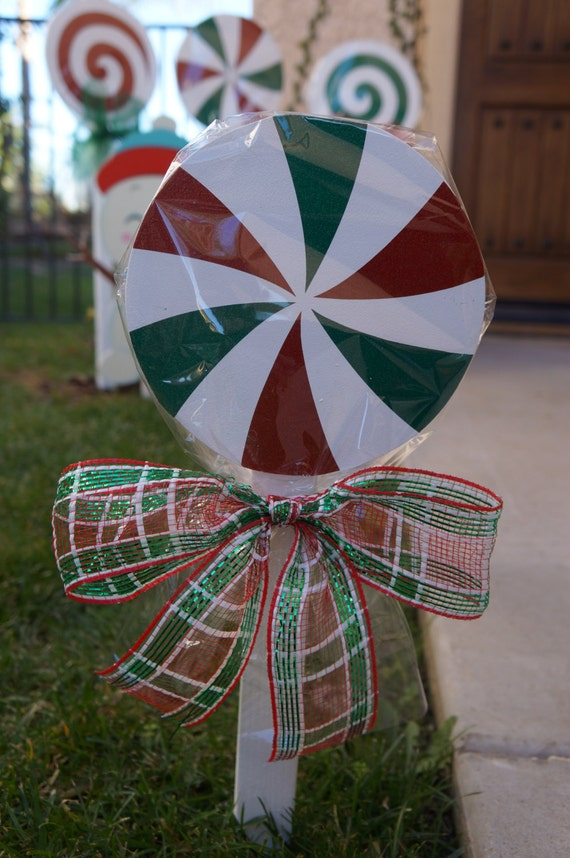 Items Similar To Christmas Lollipops For Yard Decorations