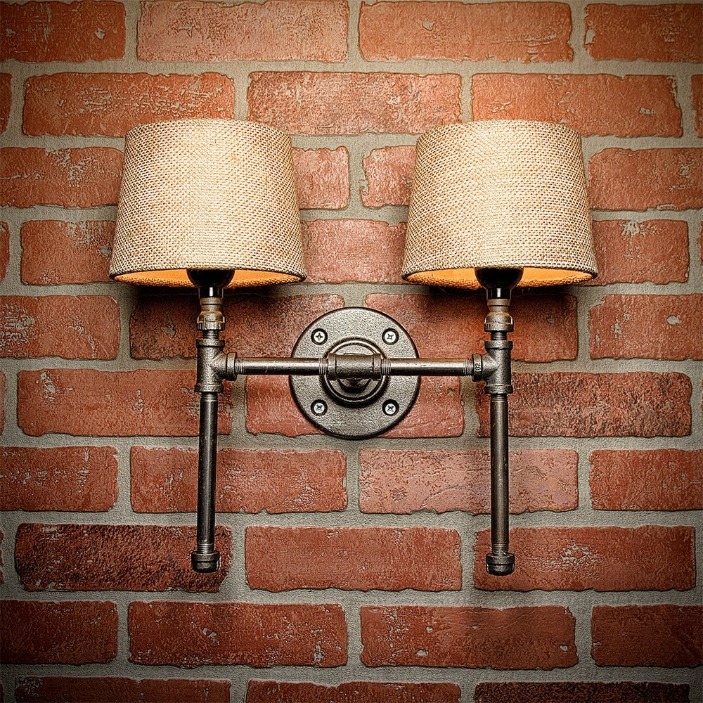 Rustic Farmhouse Wall Sconces : Farmhouse Lighting - Lighting - Rustic Light - Steampunk Lighting - Bar Light - Industrial ...