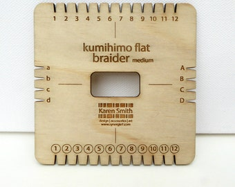 Kumihimo flat braider square plate (medium), for use with 1-2mm cord