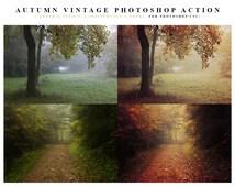 INSTANT DOWNLOAD Autumn Vintage Photoshop Action