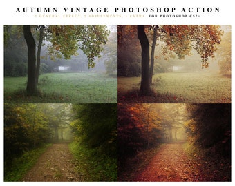 INSTANT DOWNLOAD Autumn Vintage Photoshop Action