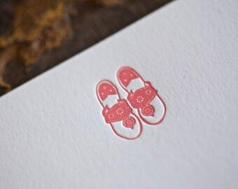 Palm Beach Sandal Note Cards