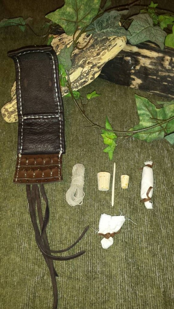 Leather pocket fishing kit for Pocket fishing kit