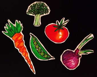 Veggie Magnets - FREE SHIPPING