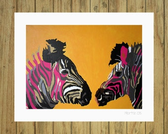 Instant download printable copy painting of mine animals download print cebra decoration walls home and living home décor, wall décor.