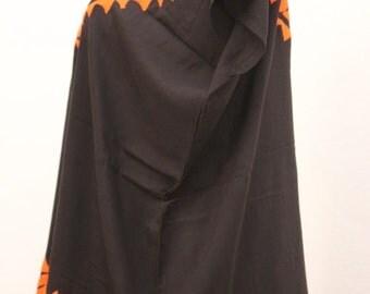 Binni Blouse Orange HAND EMBROIDERY T-XL