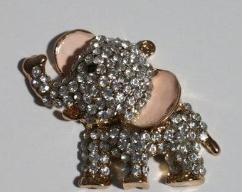 alloy rhinestone elephant/pink ears/flatback/phone deco