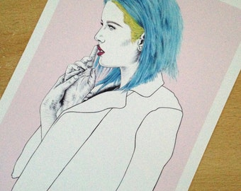 Colors - Halsey, A5 art print