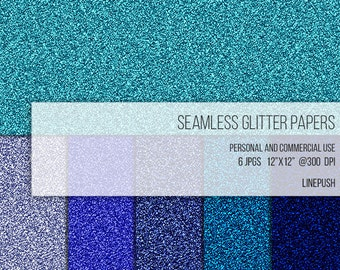 Sale! Seamless glitter paper in blue hues. Seamless glitter textures. Seamless glitter background. Glitter scrapbooking material. Printables