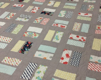 Modern Baby Quilt or Small Throw