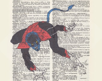 Marvel Comics X-Men Nightcrawler on dictionary page print