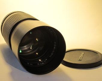 Cosinon Auto MC f3,5 200 mm Lens for Pentax K-Mount. Vintage SLR Camera Lens